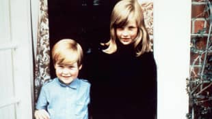 Charles Spencer and Princess Diana as young children.