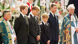 Charles Spencer, Prince William, Prince Harry and Prince Charles
