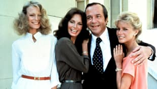David Doyle, Shelley Hack, Jaclyn Smith, and Cheryl Ladd in 'Charlie's Angels'