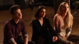 Chris Colfer, Lea Michele and Heather Morris