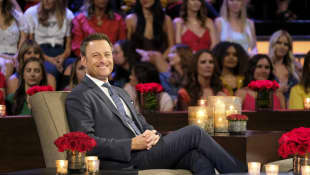 Chris Harrison at the Men Tell All episode of The Bachelorette in 2019