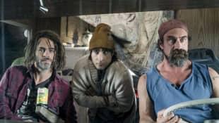 Chris Pine, Jason Schwartzman, and Christopher Meloni in 'Wet Hot American Summer'