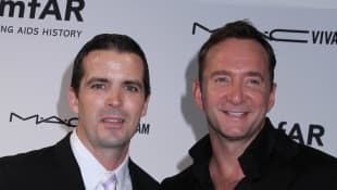 This is Clinton Kelly from What Not to Wear's husband, Damon Bayles