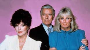 Joan Collins, John Forsythe y Linda Evans.