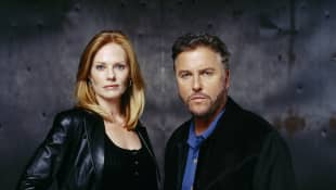Marg Helgenberger and William L. Petersen