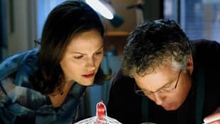 Jorja Fox and William L. Petersen in 'CSI: Vegas'