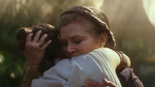 Daisy Ridley y Carrie Fisher