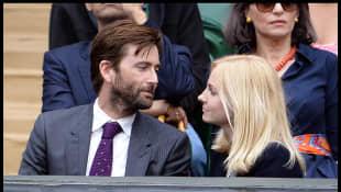 David and Georgia Tennant Wimbledon 2014