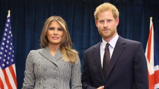 Melania Trump y el príncipe Harry