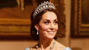 Duchess Catherine Diana's Tiara Dutch State Banquet Buckingham Palace