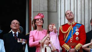 Príncipe Felipe, Duquesa Catalina y Príncipe Guillermo