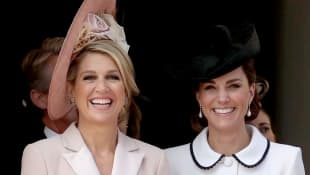Duchess Catherine and Queen Maxima of the Netherlands