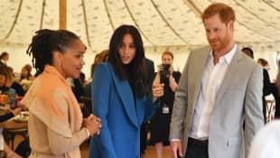 Prince Harry, Meghan Markle, and Doria Ragland
