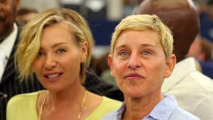 Portia de Rossi y Ellen DeGeneres