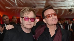 Elton John and Bono