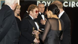 Elton John, Prince Harry and Duchess Meghan