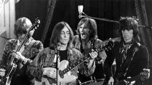 Eric Clapton, John Lennon, Mitch Mitchell , and Keith Richards