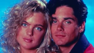Erika Eleniak and Billy Warlock in 'Baywatch' 1991