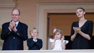 Prince Albert, Princess Charlène, Prince Jacques, Princess Gabriella
