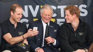 Príncipe William, príncipe Carlos y el príncipe Harry