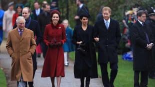 Príncipe Carlos, Príncipe William, Kate Middleton, Meghan Markle y el príncipe Harry