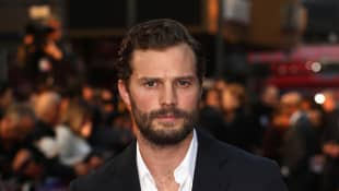 """Jamie Dornan attends the European Premiere of """"A Private War"""" on October 20, 2018, in London, England."""