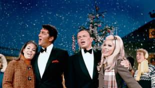 Gail Martin, Dean Martin, Frank Sinatra and Nancy Sinatra