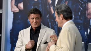 Sylvester Stallone y Frank Stallone