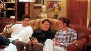Joey, Chandler y Ross en 'Friends'
