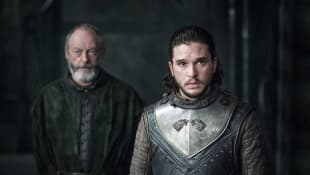 Lian Cunnimgham y Kit Harington en una escena de Game of Thrones