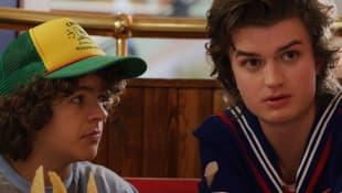 Gaten Matarazzo and Joe Keery in 'Stranger Things'