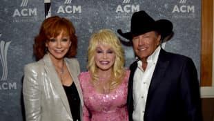 George Strait, Reba McEntire and Dolly Parton