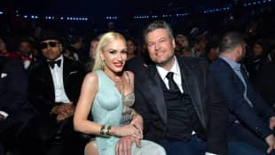 Gwen Stefani y Blake Shelton en los premios Grammy