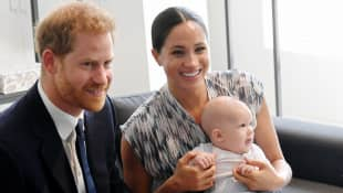 Prince Harry, Duchess Meghan, and Archie Mountbatten-Windsor