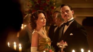 Helen McCrory and Sam Claflin in 'Peaky Blinders'