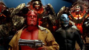 Ron Perlman and Doug Jones in 'Hellboy II: The Golden Army