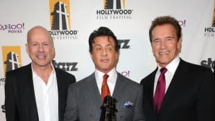 Bruce Willis, Sylvester Stallone y Arnold Schwarzenegger