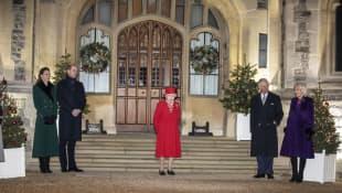 Duchess Kate, Prince William, Queen Elizabeth II, Prince Charles and Duchess Camilla