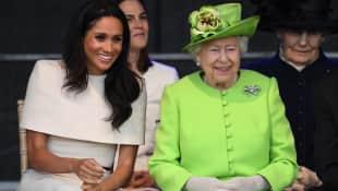 Duchess Meghan and Queen Elizabeth II.