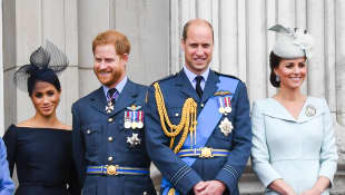 Duchess Meghan, Prince Harry, Prince William and Duchess Kate