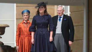 Princesa Eugenia y los duques de Gloucester