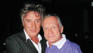Rod Stewart and Hugh Hefner