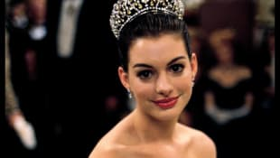 Anne Hathaway en la película de Disney de 2001, 'The Princess Diaries'.