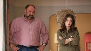 James Gandolfini and Eve Hewson in 'Enough Said'