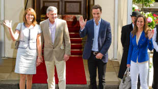 Carole, Michael, James, and Pippa Middleton
