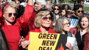 Jane Fonda gets arrested at a climate change protest while receiving a BAFTA Award at the same time