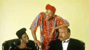 Janet Hubert, Will Smith y James Avery en 'El príncipe del rap'