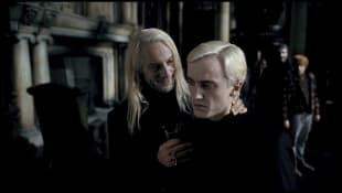 """Jason Isaacs and Tom Felton in """"Harry Potter and the Deathly Hallows Part 1"""""""