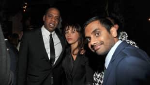 Jay-Z, Rashida Jones and Aziz Ansari