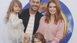 JoAnna Garcia, Nick Swisher, and daughters